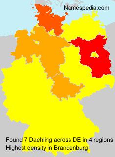 Surname Daehling in Germany