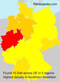 Surname Daft in Germany