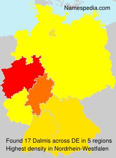 Surname Dalmis in Germany