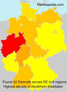Surname Damrath in Germany