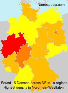 Surname Damsch in Germany