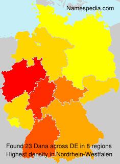 Surname Dana in Germany