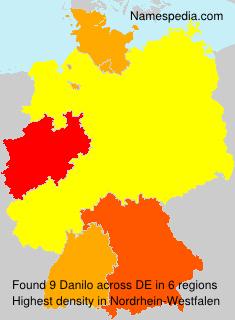 Surname Danilo in Germany