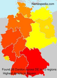 Surname Danilov in Germany