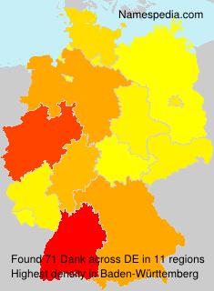 Surname Dank in Germany