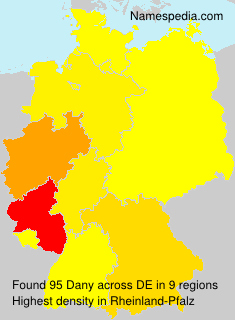 Familiennamen Dany - Germany