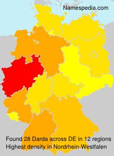 Familiennamen Darda - Germany