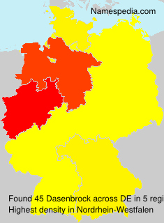 Surname Dasenbrock in Germany