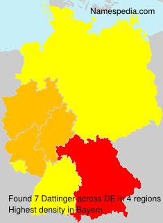 Surname Dattinger in Germany