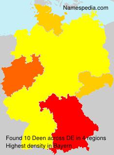 Surname Deen in Germany
