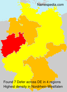 Familiennamen Defer - Germany