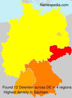 Surname Deierlein in Germany