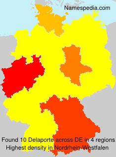 Surname Delaporte in Germany