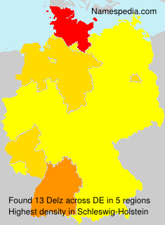 Familiennamen Delz - Germany
