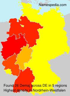Surname Demaj in Germany