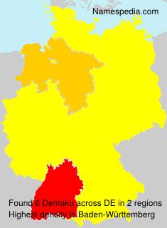 Surname Demaku in Germany