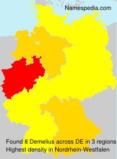 Familiennamen Demelius - Germany