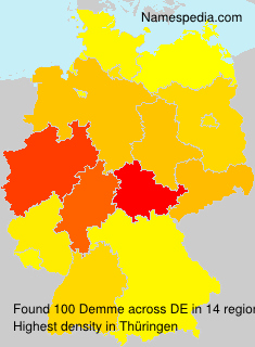 Surname Demme in Germany