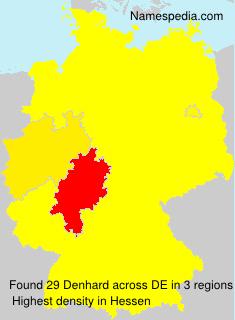 Surname Denhard in Germany