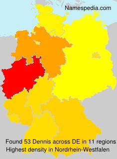 Familiennamen Dennis - Germany
