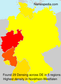 Surname Densing in Germany