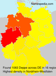 Surname Deppe in Germany
