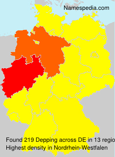 Surname Depping in Germany