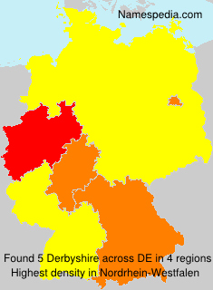 Surname Derbyshire in Germany