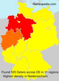 Surname Deters in Germany