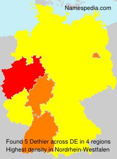 Surname Dethier in Germany