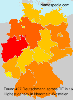 Surname Deutschmann in Germany