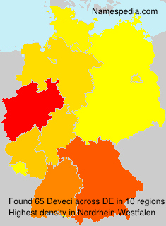 Familiennamen Deveci - Germany