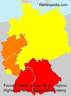 Surname Dewan in Germany
