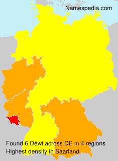 Surname Dewi in Germany