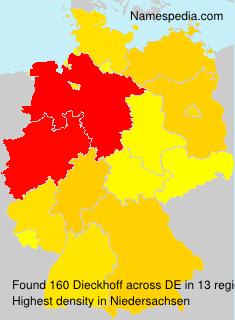 Surname Dieckhoff in Germany