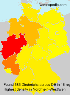 Surname Diederichs in Germany