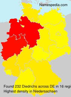 Surname Diedrichs in Germany