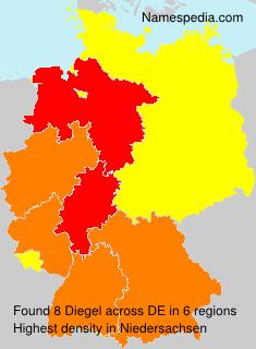 Surname Diegel in Germany