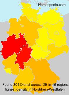 Surname Dienst in Germany