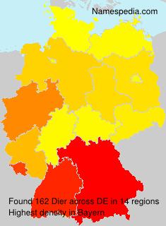 Surname Dier in Germany
