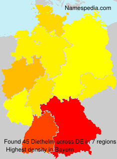 Surname Diethelm in Germany