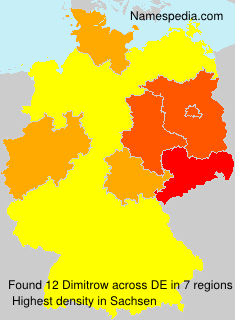 Familiennamen Dimitrow - Germany