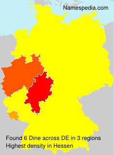 Surname Dine in Germany
