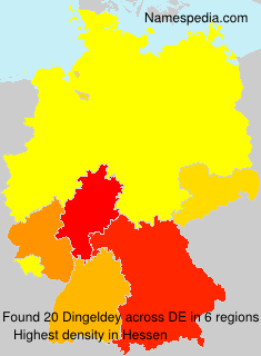 Surname Dingeldey in Germany