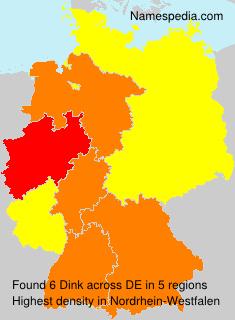 Surname Dink in Germany
