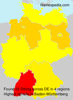 Surname Ditting in Germany
