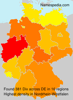 Surname Dix in Germany