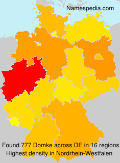 Surname Domke in Germany