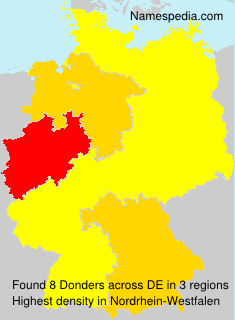 Surname Donders in Germany