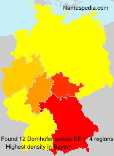 Surname Dornhofer in Germany